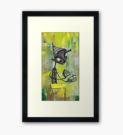 Preparation Lepidoptera larvae Framed Print