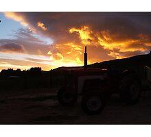 Flaming sunrise.... Photographic Print
