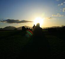 castlerigg silhouette near sunset by Breo