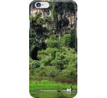 Swiming into the Wild II - Thakhek, Laos. iPhone Case/Skin