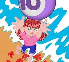 My postcard for the Superheroes Alphabet: the number 10! by Raz Solo