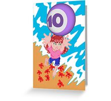 My postcard for the Superheroes Alphabet: the number 10! Greeting Card