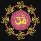 Om in Pink and Yellow Wheel by Heidi Hermes