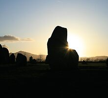 Castlerigg stone circle near sunset by Breo