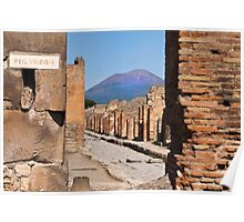 Mount Vesuvius from Pompeii Poster