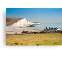 Seven Sisters from Cuckmere Haven: East Sussex. UK. Canvas Print