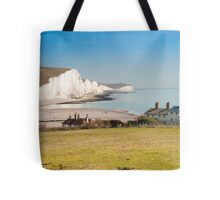 Seven Sisters from Cuckmere Haven: East Sussex. UK. Tote Bag