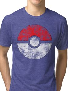 Distressed Pokeball Tri-blend T-Shirt