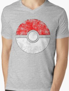 Distressed Pokeball Mens V-Neck T-Shirt