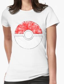 Distressed Pokeball Womens Fitted T-Shirt
