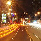 Clarendon Street traffic - Melbourne by Debbie Thatcher