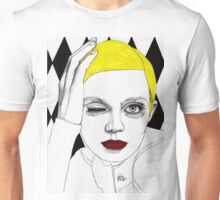 Girl with Yellow Hair Unisex T-Shirt
