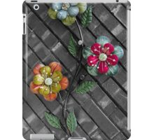 Wall Flowers on Gray Brick iPad Case/Skin