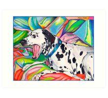 Laughing Dalmatian  Psychedelic Dalmatian Art Art Print