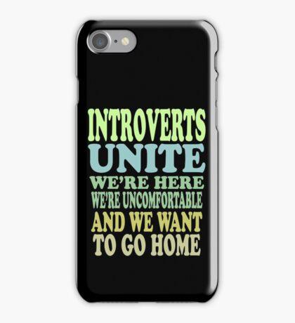Introverts Unite iPhone Case/Skin