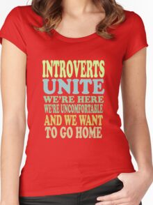 Introverts Unite Women's Fitted Scoop T-Shirt