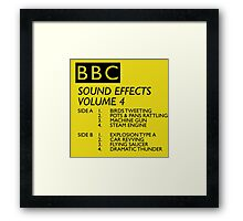 BBC Sound Effects Volume 4 Framed Print