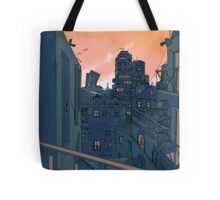 Cityscape in the Evening Tote Bag