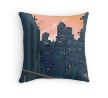 Cityscape in the Evening Throw Pillow