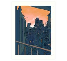 Cityscape in the Evening Art Print