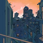 Cityscape in the Evening by Eireni