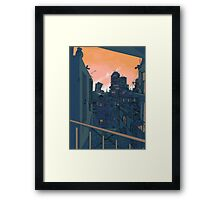 Cityscape in the Evening Framed Print