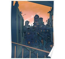 Cityscape in the Evening Poster