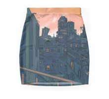 Cityscape in the Evening Pencil Skirt