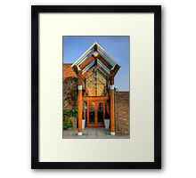 Step through the door - HDR Framed Print