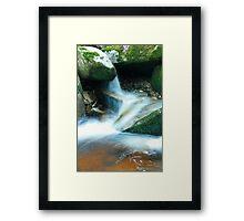 Woodland water at Glencree No4 Framed Print