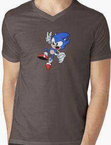 Sonic the Hedgehog Freefall Mens V-Neck T-Shirt