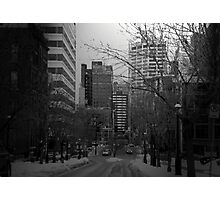Cityscapes - The Cold Took Over the City Photographic Print