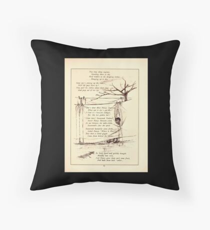Rose Buds Virginia Gerson 1885 0035 Susannah and Rosalba Teabout Throw Pillow