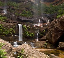 Water Falls Galore - Wentworth Falls, NSW by Malcolm Katon