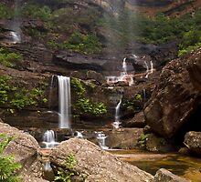 Water Falls Galore - Wentworth Falls, NSW by Malcolm Katon