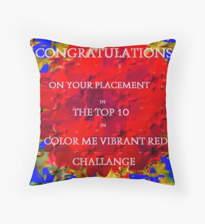Banner Challange Vibrant Red Throw Pillow