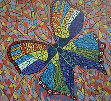 Mosaic butterfly by maggie326