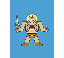 Flat He-Man Photographic Print