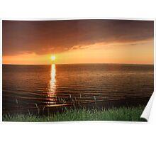 Lake Michigan Sunset, South Haven, MIchigan Poster