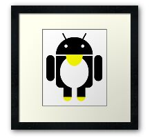 linux Tux penguin android  Framed Print