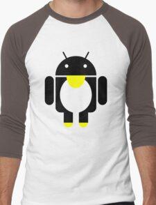 linux Tux penguin android  Men's Baseball ¾ T-Shirt