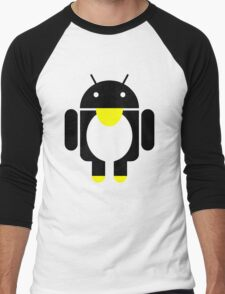 linux Tux penguin android  Men's Baseball ¾ T-Shirt