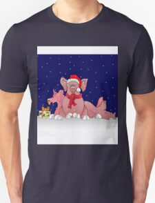 Christmas pigs for throw pillows T-Shirt