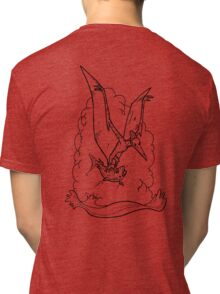 Black Pterodactyl Tri-blend T-Shirt