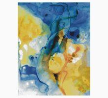 Iced Lemon Drop - Abstract Art By Sharon Cummings One Piece - Short Sleeve