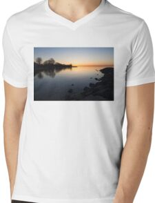 A Quiet Sunrise - Toronto, Lake Ontario Mens V-Neck T-Shirt