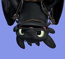 Upside Down Toothless by ele94rhcp