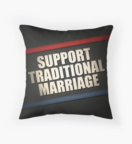Support Traditional Marriage Throw Pillow