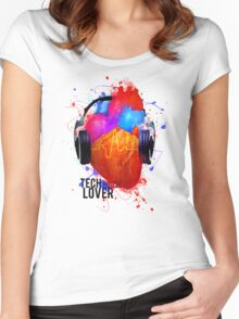 No Music - No Life (Tech House Lover) Women's Fitted Scoop T-Shirt