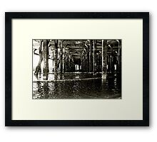 Under the Pier (Clacton) Framed Print